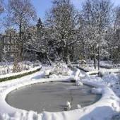 Пластиковый пруд зимой