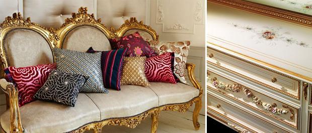 Для полов в венецианском стиле подойдут мрамор или керамика.