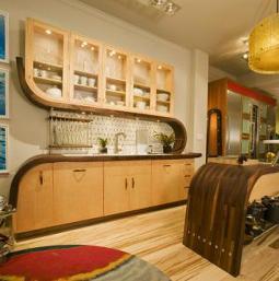 Кухни в стиле арт деко.  Может ли обычная кухня быть произведением...