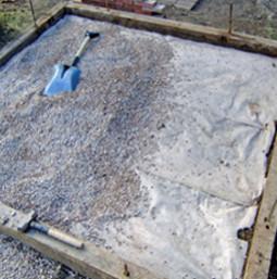 Фундамент под печь бани